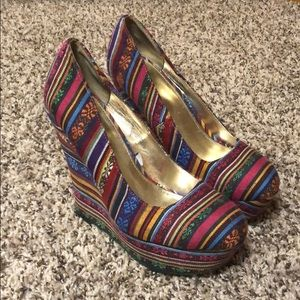 Mossimo Patterned Platform Wedges